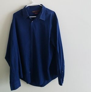 Perry Ellis Shirts - Perry Ellis Slim Fit 2XL Dark Blue Dress Shirt